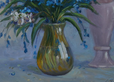 Still life with snowdrops and flowering willow